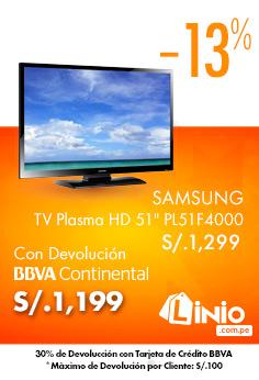 LINIO – Samsung – TV Plasma HD 51″ PL51F4000