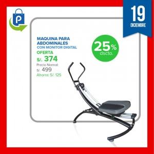 Maquina para abdominales GM96231 Con Monitor Digital a S/. 374.25