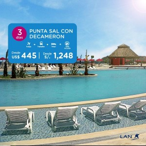 LAN Peru Disfruta de las maravillosa playa de Punta Sal con el mejor servicio LAN y Decameron a solo S/.1248.00