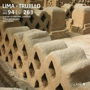 Lan Perú Lima – Trujillo a solo S/.263.00