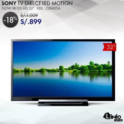 "Linio SONY TV DIRECT LED MOTION FLOW XR120 HD de 32"" a solo S/. 899"