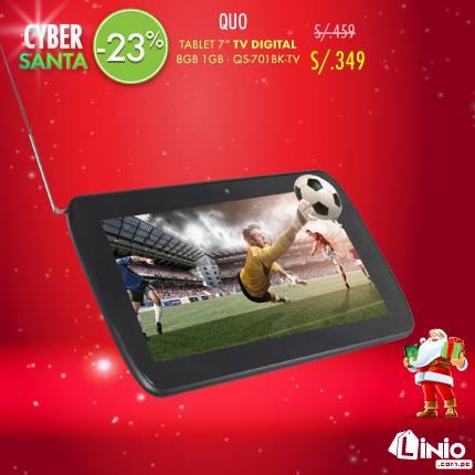 """Tablet Quo de 7"""" con TV Digital, cámara dual y almacenamiento de 8GB a solo S/. 349"""