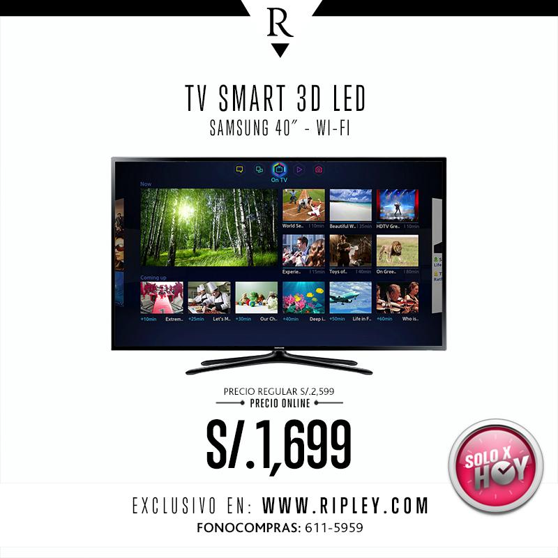 TV SMART 3D LED de Samsung a solo S/.1699 soles