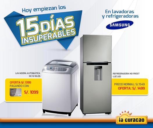 La Curacao – 15 días insuperables en lavadoras y refrigeradoras