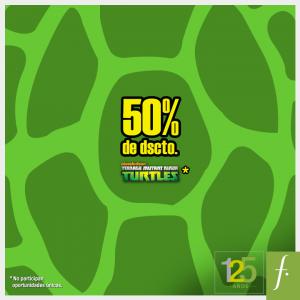 50% de descuento en los juguetes de las Tortugas Ninjas