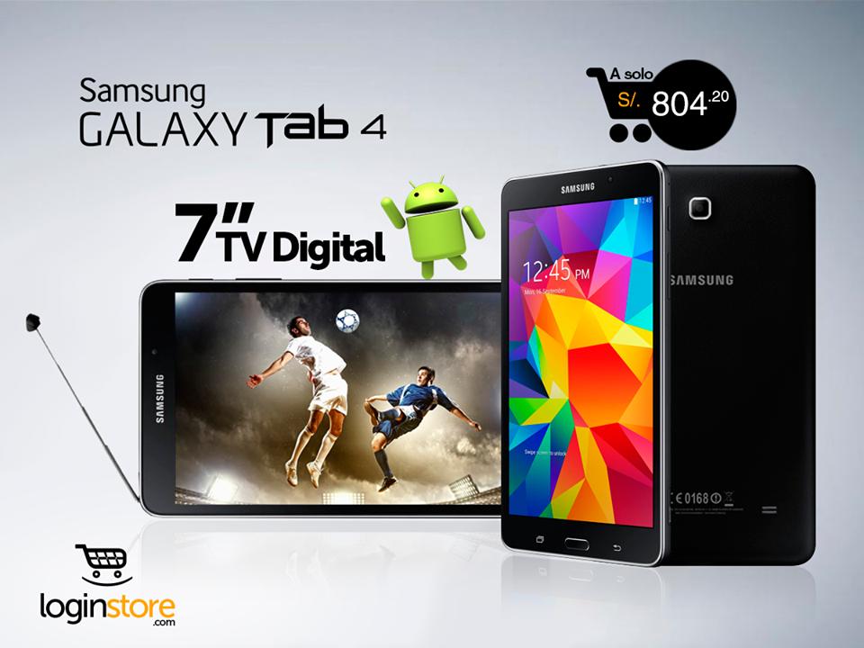 Loginstore – Galaxy Tab 4 con TV Digital a sólo S/.804
