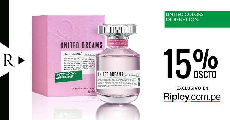 Ripley – 15% de descuento en fragancia United Dreams
