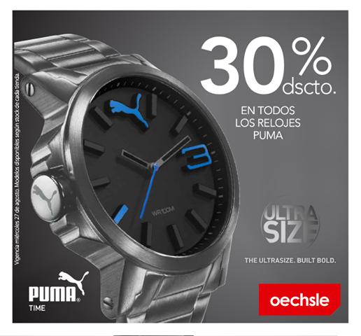 Oechle – 30% de descuento en relojes Puma