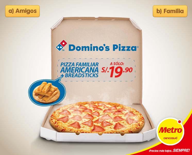Metro – Pizza familiar americana a sólo S/.19.90