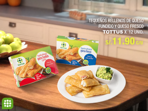 Tottus – Tequeños rellenos de queso x 12 a sólo S/.11.90