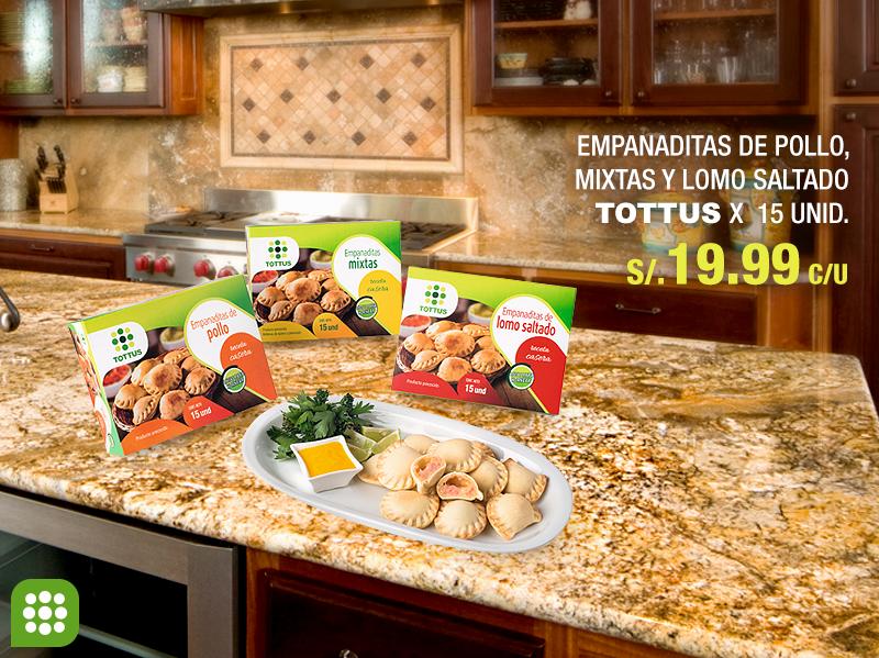 Tottus – Empanaditas Tottus x 15 unid. a sólo S/.19.99