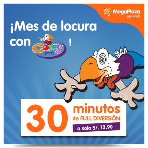 MegaPlaza – 30 minutos de diversión en el Coney Park por sólo S/.12.90