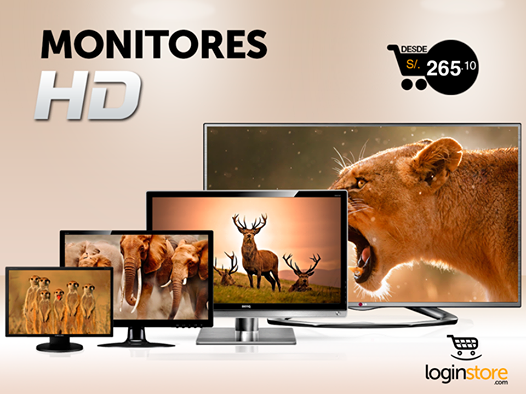 Loginstore – Monitores HD desde S/.265.10