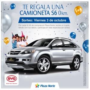 Plaza Norte – Te regala una camioneta S6 0Km