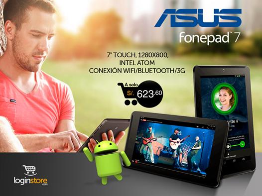 Loginstore – ASUS Fonepad 7 a sólo S/.623.60