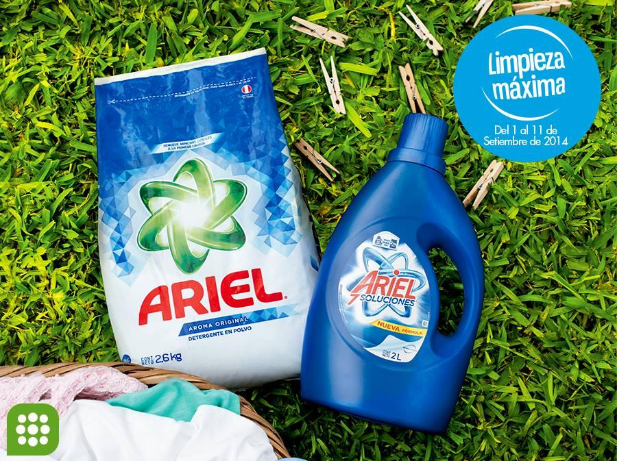 Tottus – Detergente Ariel con el 40% de descuento