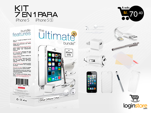7 en 1 – Kit para iPhone 5/5S a sólo S/.70.40