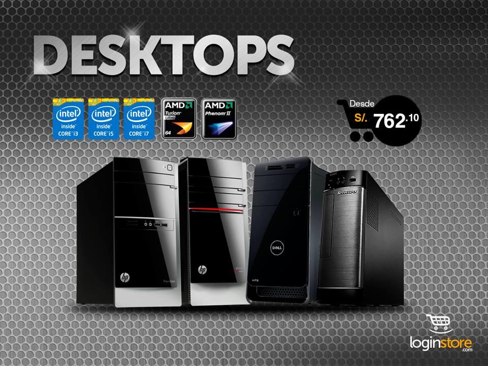 Loginstore – Desktops desde S/.762.10