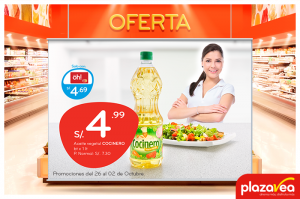 Aceite Vegetal Cocinero a sólo S/4.99