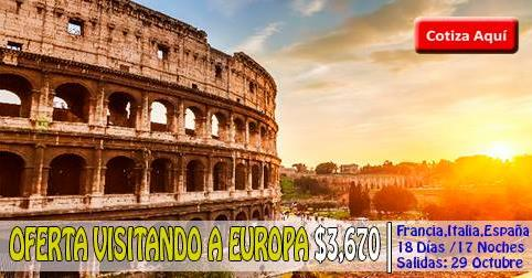 OFERTA VISITANDO A EUROPA desde $3,670