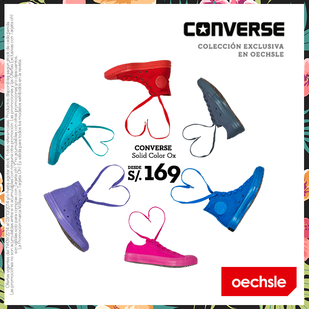 Oechsle – Converse Solid Color Ox desde S/.169