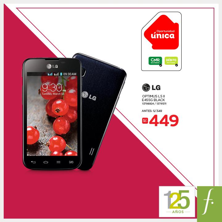 saga falabella smartphone lg a solo s 449