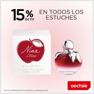 Oechsle – 15% de dcto. en todos los estuches de Nina Ricci