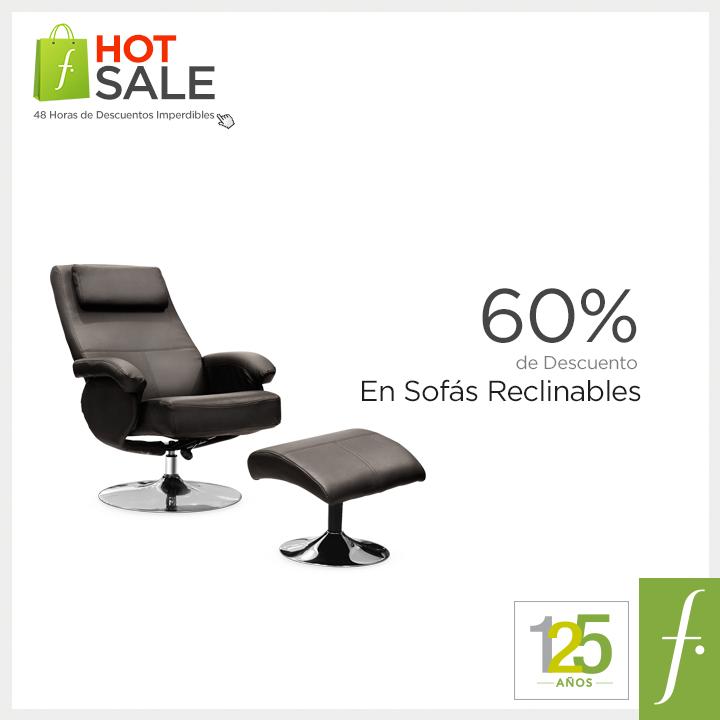 Saga Falabella – 60% de descuento en sofás reclinables