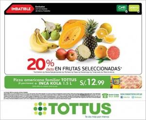 20% de descuento en frutas seleccionadas