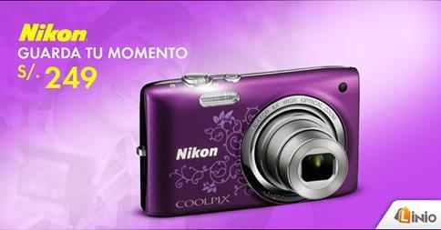 Cámara Nikon a sólo S/.249