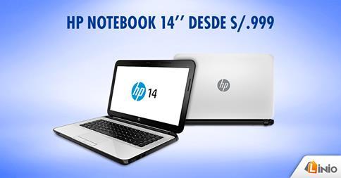 Laptop HP 14″ desde S/.999 en Linio