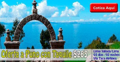 Paquete turístico a Puno con Taquile desde $263