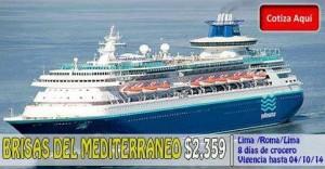 CRUCERO POR BRISAS del MEDITERRÁNEO desde $2,359