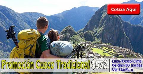 Paquete Turistico a Cusco Tradicional desde $532