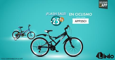 Linio – 25% de descuento en bicicletas