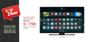 "Samsumg TV LED 40"" a sólo S/. 1799.00"