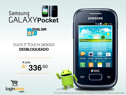 Samsumg Galaxy Pocket a sólo S/. 336.60