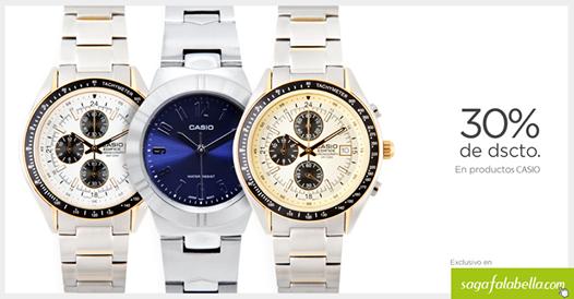 30% de descuento en relojes Casio