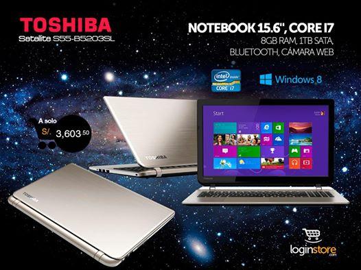 Toshiba Satellite Core i7 a sólo S/.3603.50