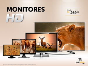 Monitores HD desde S/. 269.80