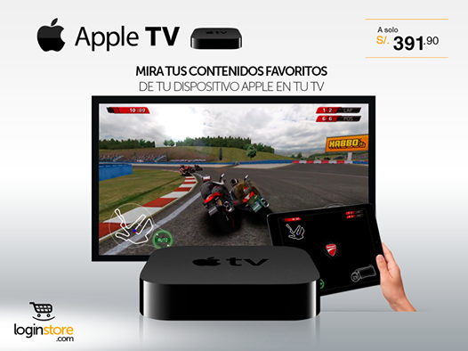 Apple TV a sólo S/.391.90