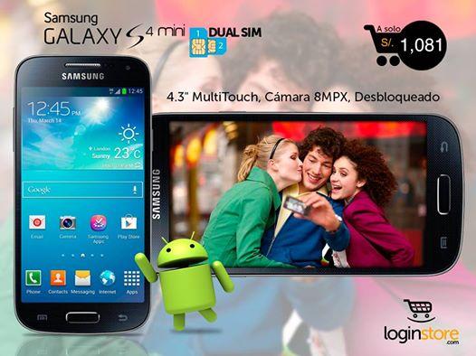 Galaxy S4 Mini Dual SIM a sólo S/.1081
