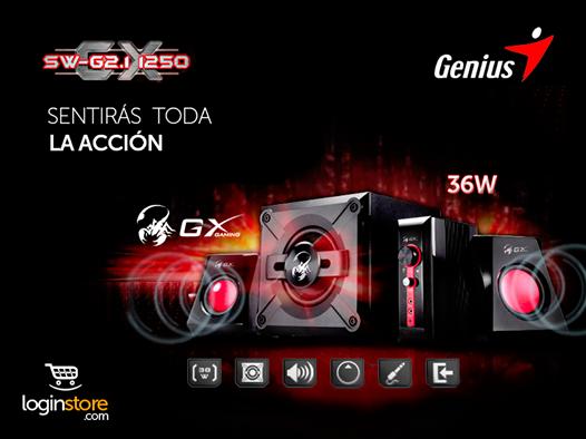 Altavoces GENIUS SW-G2 11250 36W a sólo S/.139