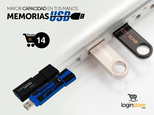 Especial de USB en Loginstore
