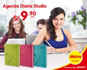 Agenda diaria STUDIO a sólo S/.9.90