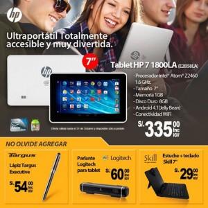 Tablet HP a sólo S/. 335.00