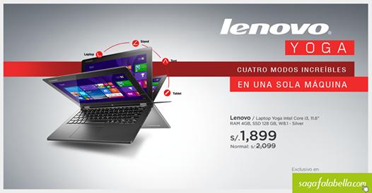 Yoga Intel Core i3 de Lenovo a solo S/.1,899