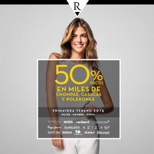 50% de descuento en chompas, casacas y polerones