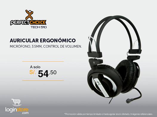 Auricular ergonómico a sólo S/. 54.50
