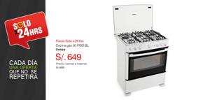 Cocina a gas a sólo S/. 649.00